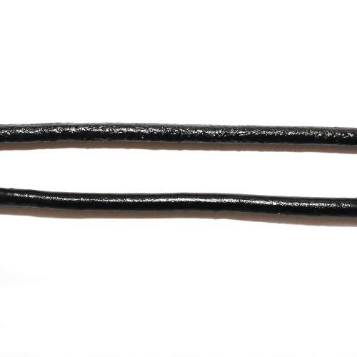 Lederband echt Leder glatt schwarz 4mm 1,6m lang