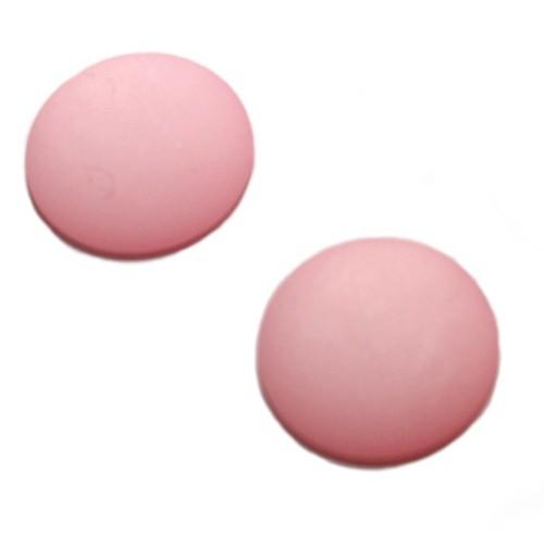 Cabochon Polaris rund flach matt pink 20mm 2 Stück