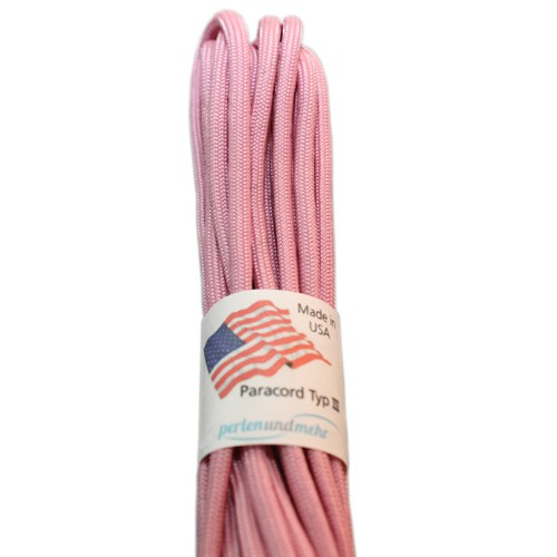 Paracord - perlenundmehr - original amerikanisch TypIII Farbe Lavender / pink altrosa