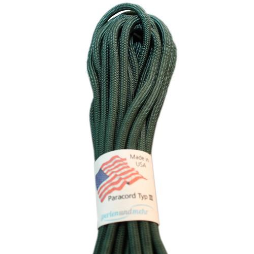 Paracord - perlenundmehr - original amerikanisch TypIII Farbe dark green