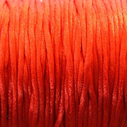 Seidenband Nylonfaden 2mm rot 5 m lang