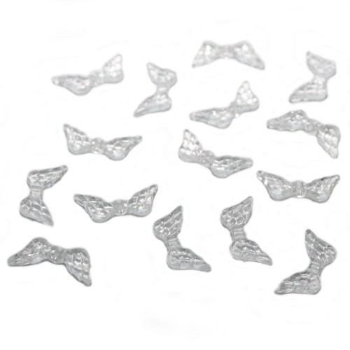 Acrylperle Spacer Engel Fee Flügel Transparent 20,5x9mm 20Stk.
