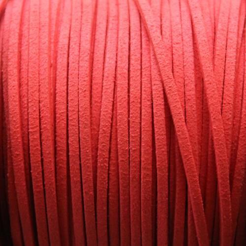 Wildlederimitat weich flach 3x1,5mm Microfaser pink 5 m lang
