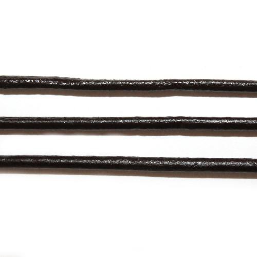 Lederband echt Leder glatt dunkel braun 3mm 1,6m lang