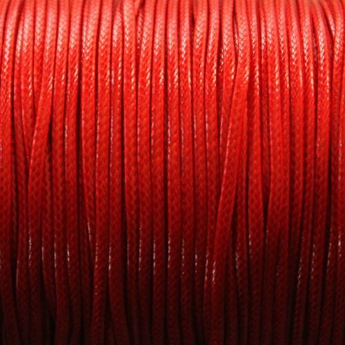 Wachsband gewachstes Baumwollband 2mm dunkel rot 5 m lang