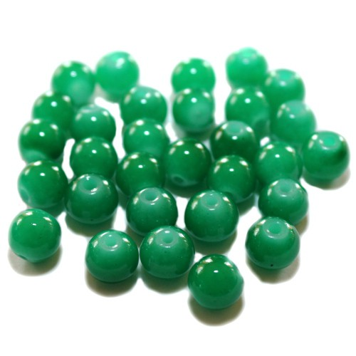 Glasperle Kugel glatt grün 8mm 30Stk.
