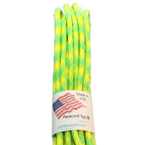 Paracord - perlenundmehr - original amerikanisch TypIII Farbe Wild Neon Green