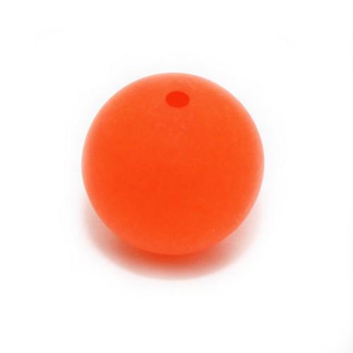Polaris Perle Kugel matt orange 14 mm 1 Stk.