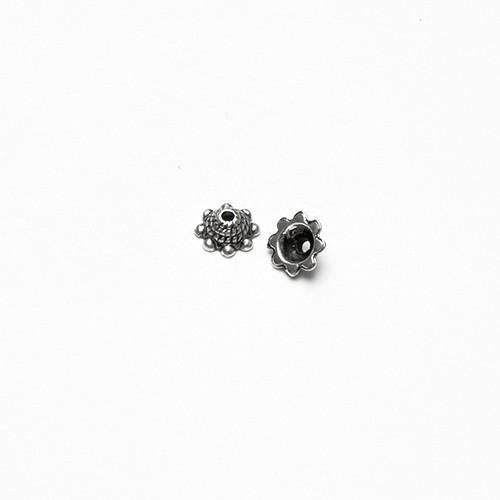 Metallperle Endkappe Perlenkappe Kegel Antiksilber 9x4mm 10Stk.