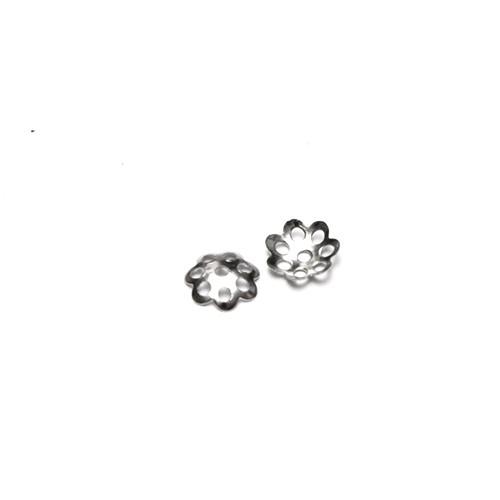 Metallperle Endkappe Perlenkappe silber 6mm 100Stk.