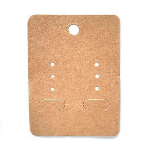 Ohrstecker Karten Karton braun 5x6,7cm 100Stk.