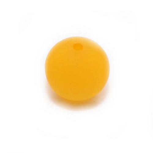 Polaris Perle Kugel matt safran 16 mm 1 Stk.