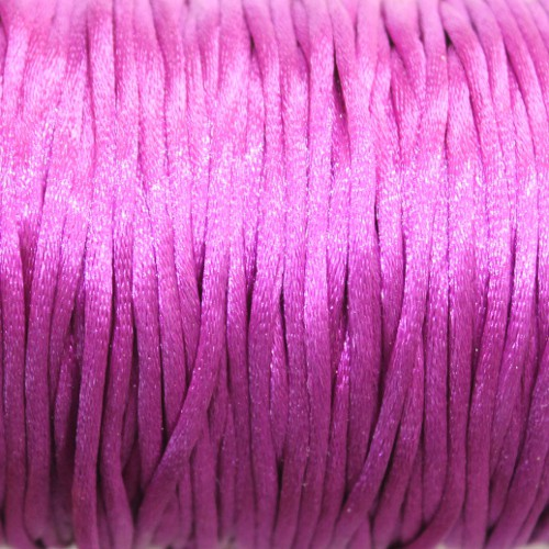 Seidenband Nylonfaden 2mm Dunkel violett 5 m lang