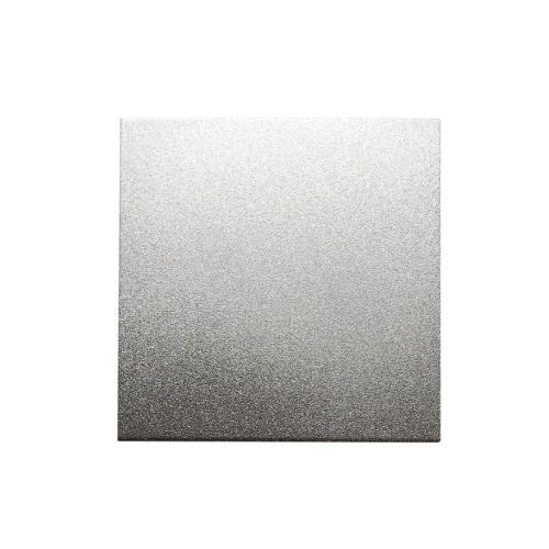Metallplatte Aluminium Quadrat silber gebürstet 5 x 5cm 1 Stück