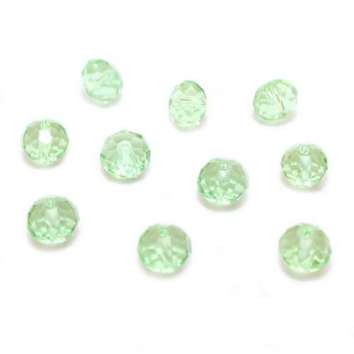 Glasperle Kristallglas Rhombe Bicone facettiert mint grün glänzend 10x8mm 10Stk.