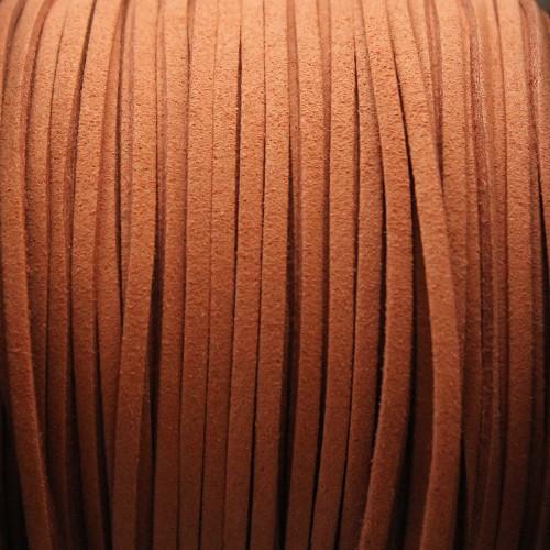 Wildlederimitat weich flach 3x1,5mm Microfaser schoko 5 m lang