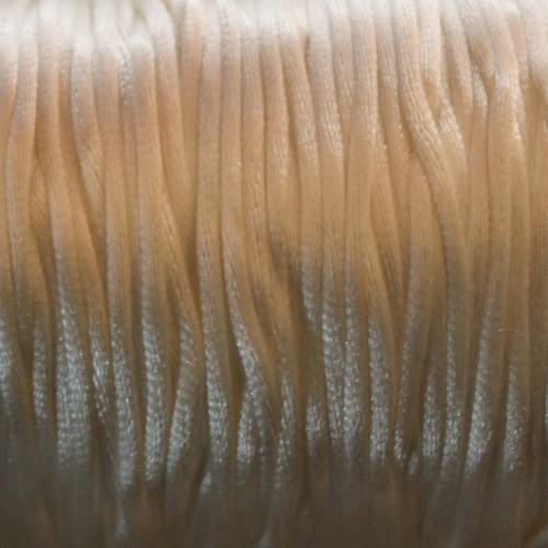 Seidenband Nylonfaden 2mm weiß 5 m lang