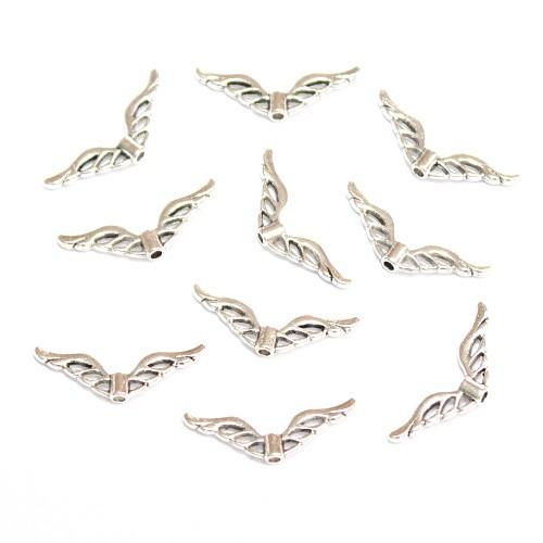 Metallperle Spacer Engel Fee Flügel Vogel Antiksilber 21,5,5x7mm 10Stk.
