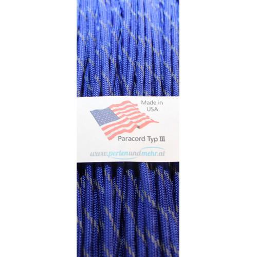 Paracord - perlenundmehr - reflektierend Farbe dunkel - blau 1 m