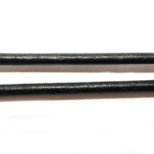 Lederband echt Leder glatt schwarz 5mm 1m lang