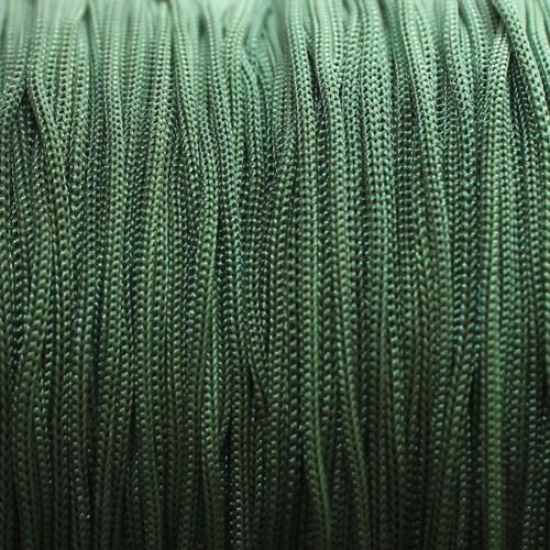 Nylonfaden Makramee geflochten 0,8mm moos grün 5m lang