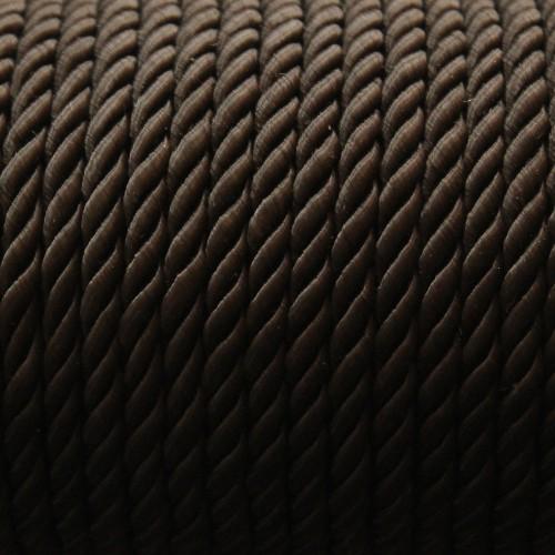 Kordel geflochten 5mm schwarz 200 cm lang
