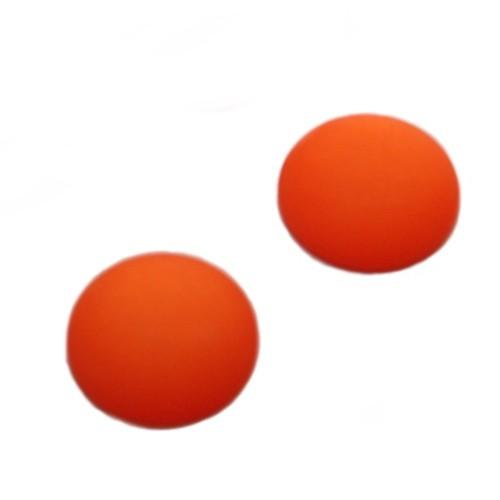 Cabochon Polaris rund flach matt orange 25mm 2 Stück