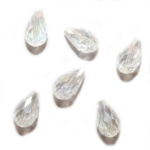 Kristall Glas Tropfen AB Klar 15 x 10 mm 6Stk.