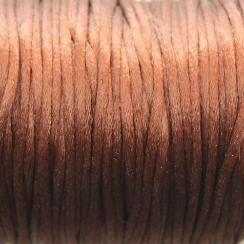 Seidenband Nylonfaden 2mm braun 5 m lang