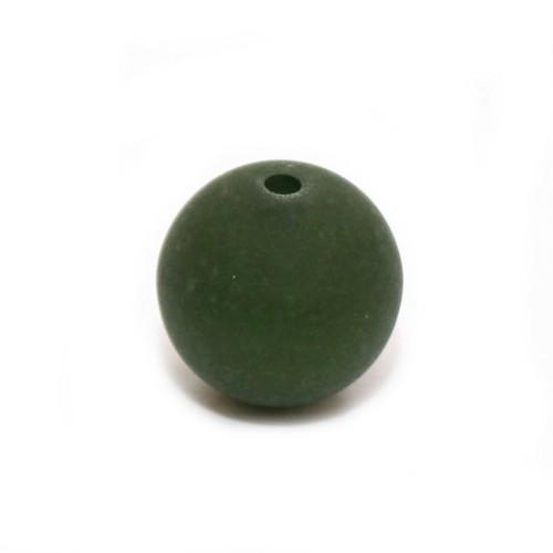 Polaris Perle Kugel matt moos-grün 8 mm 1 Stk.