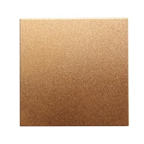 Metallplatte Aluminium Quadrat rose - gold gebürstet 7 x 7cm 1 Stück
