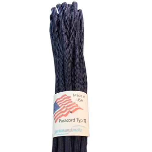 Paracord - perlenundmehr - original amerikanisch TypIII Farbe midnight blue