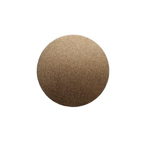 Metallplatte Aluminium Scheibe Kreis gold gebürstet 4cm 1 Stück