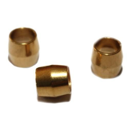 Metallperle Edelstahl Tube gold Großloch 8x8mm 3Stk.