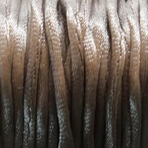 Seidenband Nylonfaden 2mm grau 5 m lang