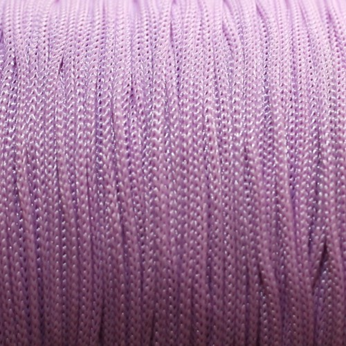 Nylonfaden Makramee geflochten 0,8mm flieder violett 5m lang