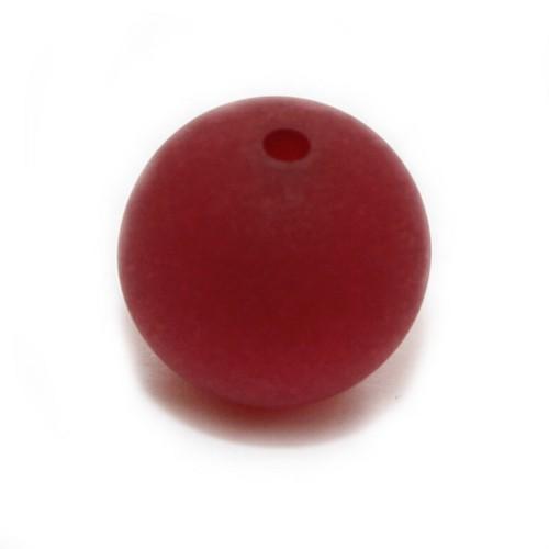 Polaris Perle Kugel matt rubin rot 14 mm 1 Stk.