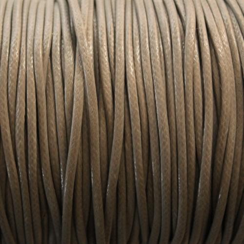 Wachsband gewachstes Baumwollband grau 2mm 5 m lang