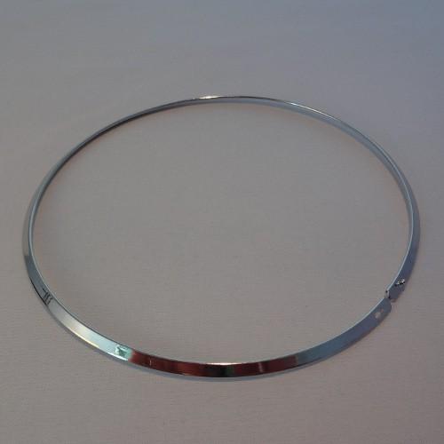 Halsreifen Metall flach versilbert 44cm 1Stk.