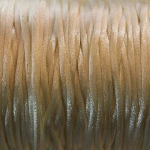 Seidenband Nylonfaden 2mm creme 5 m lang