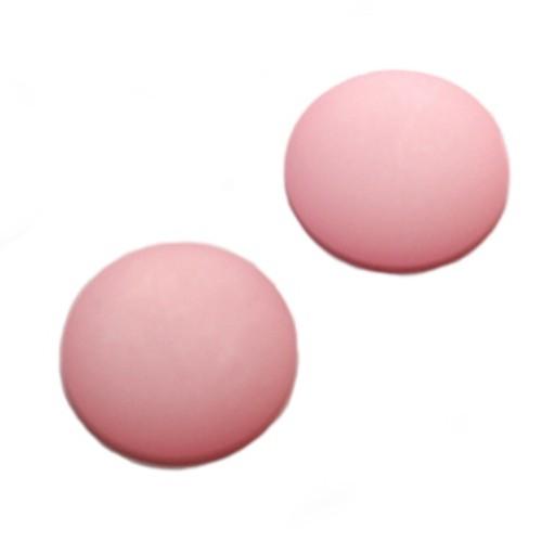 Cabochon Polaris rund flach matt pink 25mm 2 Stück