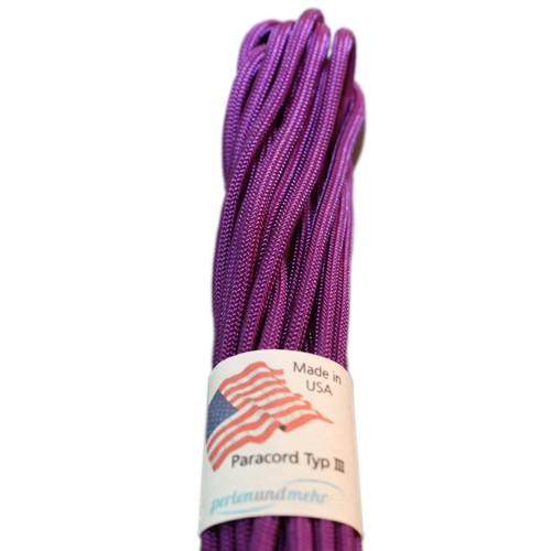 Paracord - perlenundmehr - original amerikanisch TypIII Farbe purple