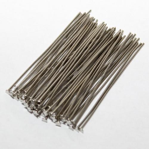 Nietstifte/Kettelstifte/Prismenstifte mit Flachkopf silber 45x0,7mm 50Stk.