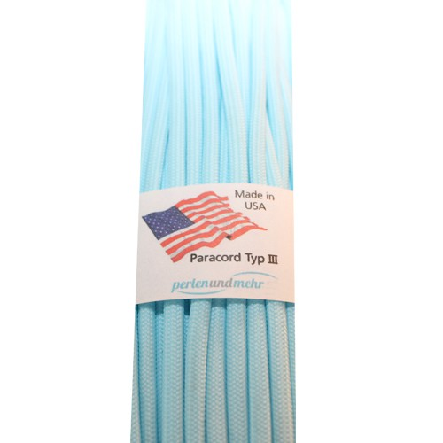 Paracord - perlenundmehr - Glow in the Dark Farbe blau 1 m