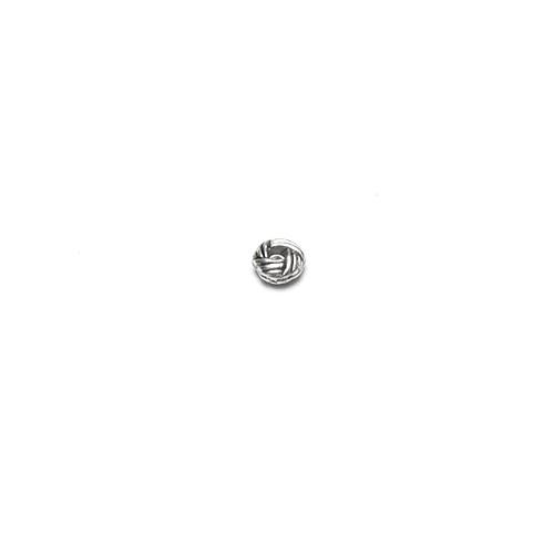 Metallperle Spacer Charms Turban Geflecht Antiksilber 6x2,7mm 15Stk.