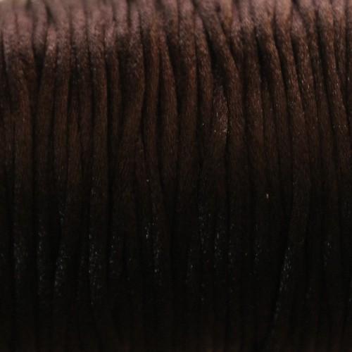 Seidenband Nylonfaden 2mm schwarz 5 m lang
