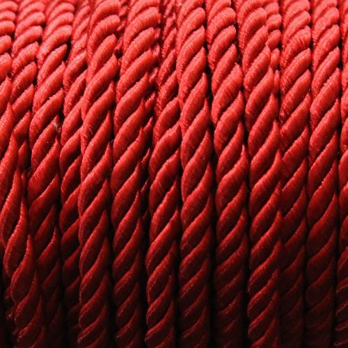 Kordel geflochten 5mm dunkel - rot 200 cm lang