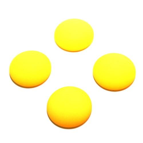Cabochon Polaris rund flach matt gelb 16mm 4 Stück
