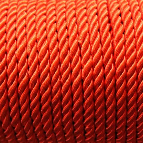 Kordel geflochten 5mm rot 200 cm lang