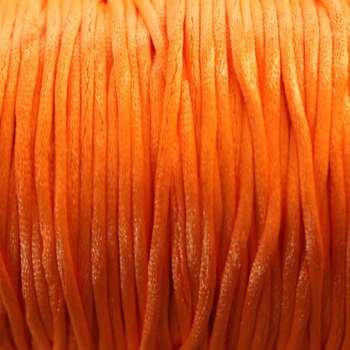 Seidenband Nylonfaden 2mm orange 5 m lang